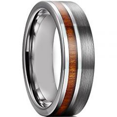 COI Tungsten Carbide Offest Wood Pipe Cut Ring-TG2389AA