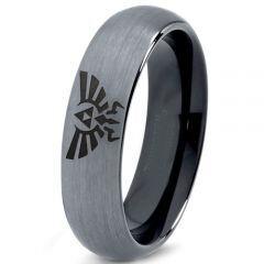 COI Tungsten Carbide Legend of Zelda Dome Court Ring-167