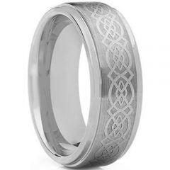 COI Tungsten Carbide Celtic Step Edges Ring - TG170