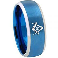 COI Tungsten Carbide Masonic Beveled Edges Ring-TG1867AAAA