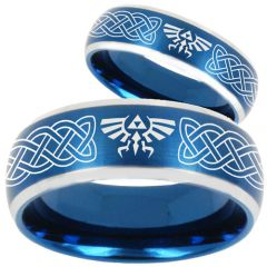 COI Tungsten Carbide Legend of Zelda Celtic Ring - TG1879CC