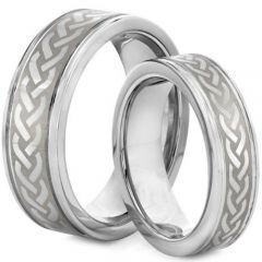 *COI Tungsten Carbide Celtic Step Edges Ring-TG2127