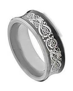 COI Tungsten Carbide Dragon Concave Ring - TG2130AA
