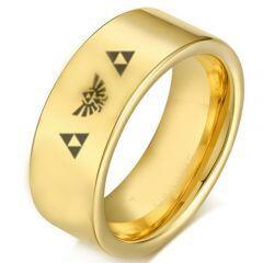 COI Gold Tone Tungsten Carbide Legend of Zelda Ring-2220