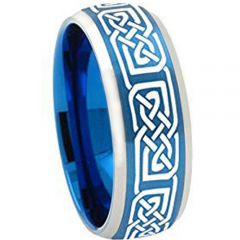 COI Tungsten Carbide Celtic Beveled Edges Ring-TG2251AA