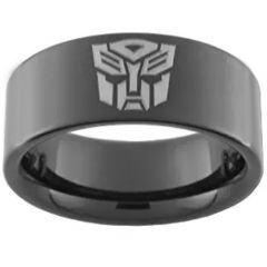 COI Black Tungsten Carbide Transformer Pipe Cut Ring-2545BB
