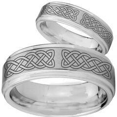 COI Tungsten Carbide Celtic Step Edges Ring-TG2760CC