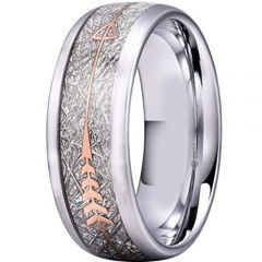 COI Tungsten Carbide Meteorite Ring With Arrows-TG2935