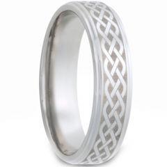 COI Tungsten Carbide Celtic Step Edges Ring-TG2979