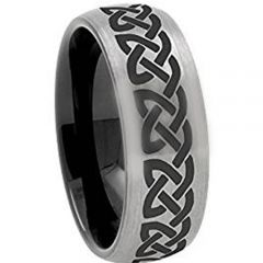 COI Tungsten Carbide Celtic Dome Court Ring - TG3097AA