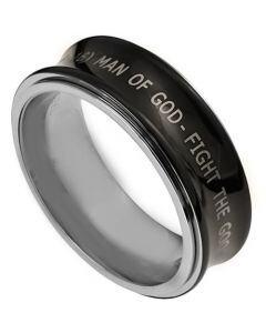 COI Tungsten Carbide Concave Custom Engraving Ring-TG3383