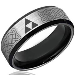 COI Tungsten Carbide Legend oF Zelda Celtic Ring - TG3493