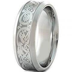COI Tungsten Carbide Dragon Concave Ring - TG309AA