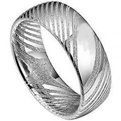 *COI Tungsten Carbide Damascus Dome Court Ring - TG4338AA