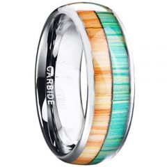 COI Tungsten Carbide Wood Dome Court Ring - TG4427