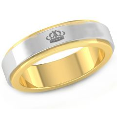 COI Tungsten Carbide King Crown Step Edges Ring - TG4479CC