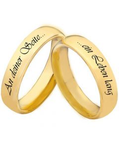 COI Gold Tone Tungsten Carbide Forever By Your Side Dome Court Ring-5447