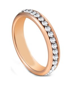COI Rose Tungsten Carbide Ring With Cubic Zirconia-5603