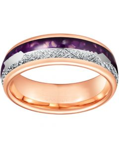 *COI Rose Tungsten Carbide Meteorite Lapis Lazuli Ring With Arrows-6862