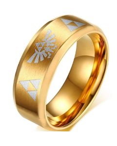 COI Gold Tone Tungsten Carbide Legend of Zelda Ring - TG806CC