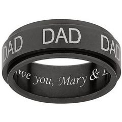 COI Tungsten Carbide Daddy Ring With Custom Engraving-TG1062AA