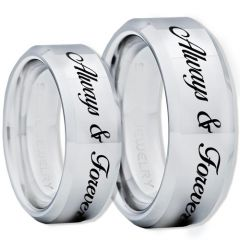 COI Tungsten Carbide Always & Forever Ring-TG1307BB