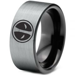 COI Tungsten Carbide Deadpool Pipe Cut Flat Ring-TG1437B
