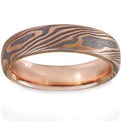 COI Tungsten Carbide Damascus Dome Court Ring-TG1474