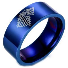 COI Tungsten Carbide Game of Thrones Ice Wolf Ring - TG2424CC