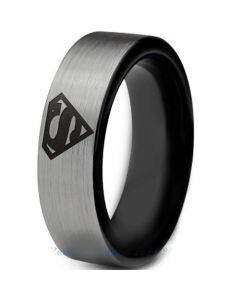 *COI Tungsten Carbide Superman Pipe Cut Flat Ring-TG2776CC