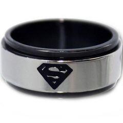 COI Tungsten Carbide Superman Step Edges Ring - TG2966