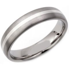 COI Tungsten Carbide Center Line Dome Court Ring - TG2988