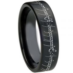 COI Black Tungsten Carbide Lord of The Ring Ring-TG3367BB