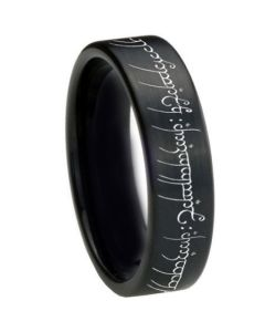 *COI Black Tungsten Carbide Lord of The Ring Ring-TG3367BB