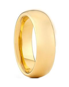 COI Gold Tone Tungsten Carbide Dome Court Ring - TG3444AA