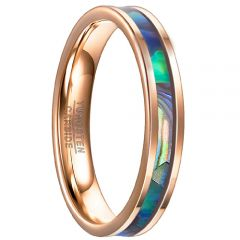 COI Rose Tungsten Carbide Abalone Shell Ring-TG3525