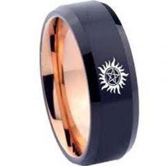 COI Tungsten Carbide Black Rose Supernatural Ring-TG3568