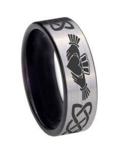 *COI Tungsten Carbide Mo Anam Cara Celtic Ring - TG3695