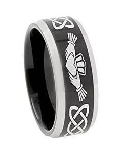 COI Tungsten Carbide Mo Anam Cara Wedding Band Ring - TG374B