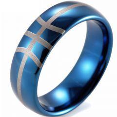 COI Tungsten Carbide Dome Court Basketball Ring-TG3837CC
