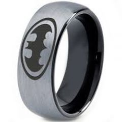 *COI Tungsten Carbide Batman Dome Court Ring - TG4006CC