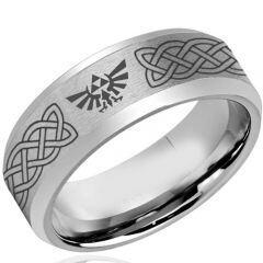 COI Tungsten Carbide Legend of Zelda Celtic Ring - TG4123CC