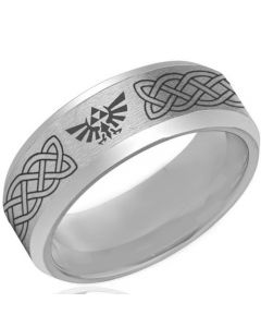 *COI Tungsten Carbide Legend of Zelda Celtic Ring - TG4123CC