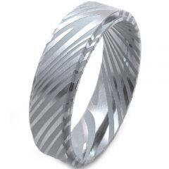 COI Tungsten Carbide Damascus Step Edges Ring-TG4187AA