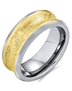 COI Tungsten Carbide Celtic Concave  Ring-TG4205