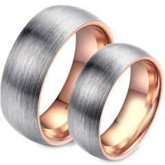 *COI Tungsten Carbide Rose Silver Dome Court Ring-TG4495