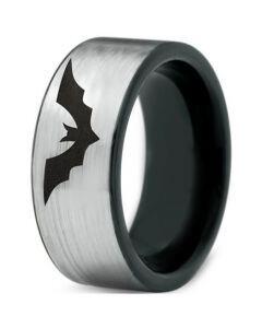 COI Tungsten Carbide Bat Pipe Cut Flat Ring - TG4525CC