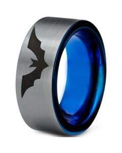 COI Tungsten Carbide Bat Pipe Cut Flat Ring - TG4698CC
