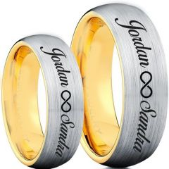 COI Tungsten Carbide Ring With Custom Names Engraving-TG5003