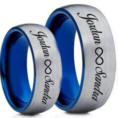 COI Tungsten Carbide Ring With Custom Names Engraving-TG5004